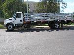 Flat bed with lift gate